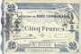 Billets Cambrai (59). Ville. Billet. 5 francs 30.10.1914, 2e série : 2 mm