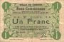 Billets Carvin (62). Ville. Billet. 1 franc 15.1.1915