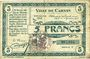 Billets Carvin (62). Ville. Billet. 5 francs 15.1.1915, série C