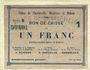 Billets Charleville, Mézières et Mohon (08). Billet. 1 franc 3.7.1915, série B