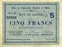 Billets Charleville, Mézières et Mohon (08). Billet. 5 francs 3.7.1915, série E