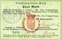 Billets Colmar (68). Stadtkassen - Bon. Billet. 2 mark 6.8.1914, cachet d'annulation Entwertet au dos
