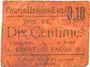 Billets Courcelles-les-Lens (62). Ticket-carton. 10 cmes, (non retrouvé)