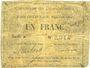 Billets Courchelettes (59). Commune. Billet. 1 franc, émission 1914, série A