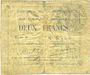 Billets Courchelettes (59). Commune. Billet. 2 francs, émission 1914, série B