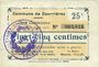 Billets Courrières (62). Commune. Billet. 25 centimes, émission août 1915
