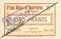 Billets Courrières (62). Compagnie des Mines. Billet. 5 francs du 15.12.1914, série C-X