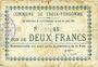 Billets Croix-Fonsomme (02). Commune. Billet. 2 francs 14.5.1915. N° 45 !