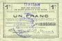 Billets Dallon (02). Commune. Billet. S.Q.G., 1 franc 8.8.1916