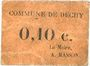 Billets Dechy (59). Commune. Billet. 10 centimes