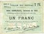 Billets Douai (59). Ville. Billet. 1 franc 30.8.1914, série B5