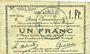 Billets Douai (59). Ville. Billet. 1 franc 30.8 et 15.10.1914, nlle série, B