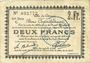 Billets Douai (59). Ville. Billet. 2 francs 30.8 et 15.10.1914, nlle série, C