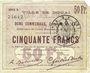 Billets Douai (59). Ville. Billet. 50 francs 30.8.1914, série G1