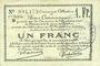 Billets Douai et Région de Carvin (59). Billet. 1 franc 22.5.1916, 1ère série B