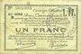 Billets Douai et Région de Carvin (59). Billet. 1 franc 22.5.1916, 6e série B