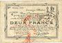 Billets Douai et Région de Carvin (59). Billet. 2 francs 22.5.1916, 1ère série C