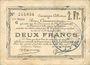 Billets Douai et Région de Carvin (59). Billet. 2 francs 22.5.1916, 2e série C