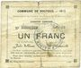 Billets Dourges (62). Commune. Billet. 1 franc 18.1.1915, série EO