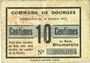 Billets Dourges (62). Commune. Billet. 10 centimes 18.10.1915