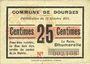 Billets Dourges (62). Commune. Billet. 25 centimes 18.10.1915