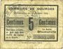 Billets Dourges (62). Commune. Billet. 5 centimes 18.10.1915