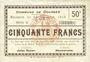 Billets Dourges (62). Commune. Billet. 5 francs 24.12.1915, série G
