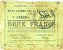 Billets Drocourt (62). Commune. Billet. 2 francs, émission 1915, série F