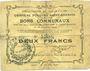 Billets Ecourt Saint-Quentin (62). Commune. Billet. 2 francs 20.12.1914