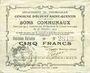 Billets Ecourt Saint-Quentin (62). Commune. Billet. 5 francs 20.12.1914, 2e émission