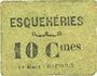 Billets Esquehéries (02). Commune. Billet. 10 centimes