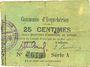 Billets Esquehéries (02). Commune. Billet. 25 centimes 23.5.1915, série A