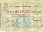 Billets Essigny-le-Grand (02). Commune. Billet. 2 francs 5.7.1915, série 5.  N° 55 !