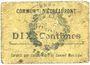 Billets Etréaupont (02). Commune. Billet. 10 centimes