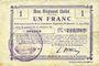 Billets Etreux (02). Commune. Billet. B.R.U., 1 franc