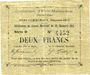 Billets Evin-Malmaison (62). Commune. Billet. 2 francs, émission 1915, série D