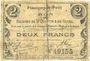 Billets Flavigny-le-Petit (02). Commune. Billet. S.Q.G., 2 francs 27.10.1917