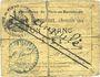 Billets Flers-en-Escrébieux (59). Commune. Billet. 1 franc, émission 1914, annulation manuscrite