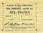 Billets Flers-en-Escrébieux (59). Commune. Billet. 10 francs, émission 1914, série F