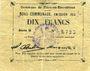 Billets Flers-en-Escrébieux (59). Commune. Billet. 10 francs, émission 1914, série G