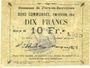 Billets Flers-en-Escrébieux (59). Commune. Billet. 10 francs, émission 1914, série H