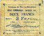 Billets Flers-en-Escrébieux (59). Commune. Billet. 2 francs, émission 1914, série I