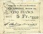 Billets Flers-en-Escrébieux (59). Commune. Billet. 5 francs, émission 1914, série C