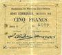 Billets Flers-en-Escrébieux (59). Commune. Billet. 5 francs, émission 1914, série E