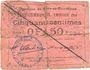 Billets Flers-en-Escrébieux (59). Commune. Billet. 50 centimes, emission 1914, série C, annulation manuelle
