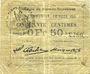 Billets Flers-en-Escrébieux (59). Commune. Billet. 50 centimes, émission 1914, série D