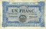 Billets Foix (09). Chambre de Commerce. Billet. 1 franc 2.2.1915, Nom d'imprimerie en lettres penchées