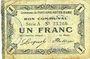 Billets Fontaine-Notre-Dame (59). Commune. Billet. 1 franc, série A