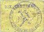 Billets Fontaine-Notre-Dame (59). Commune. Billet. 10 centimes (carton)
