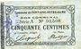 Billets Fontaine-Notre-Dame (59). Commune. Billet. 50 centimes, série A